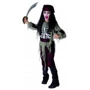 Vegaoo Zombiepiratdräkt för barn till Halloween 120 - 130 cm M (7 - 9 år)
