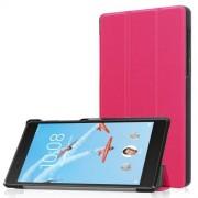 Notesz / mappa tok - MAGENTA - oldalra nyíló flip cover, TRIFOLD asztali tartó funkciós, mágneses záródás - Lenovo Tab 7