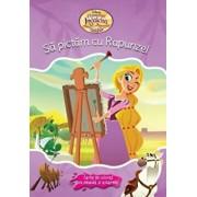 Disney. O poveste incalcita. Sa pictam cu Rapunzel. Carte de colorat cu pensula si acuarele/***