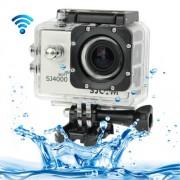 SJCAM SJ4000 WiFi Full HD 1080P 12MP Diving Bicycle Action Camera 30m Waterproof Car DVR Sports DV with Waterproof Case(Silver)