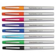 Flair Porous Point Stick Liquid Pen, Assorted Ink, Ultra Fine, 8/st