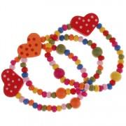 Armbandjes multicolor met hartjes