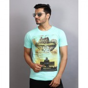 Stylish Men's Casual T-Shirts (blue color printed t- shirt)