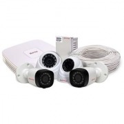 CP PLUS CCTV KIT- 4 CHANNEL DVR 2HD Dome Cameras 2 HD Bullet Camera