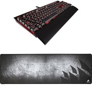 Corsair Gaming K70 LUX Mechanical Keyboard, Backlit Red LED, Cherry M