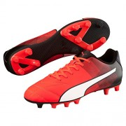 Puma Men's Adreno II FG Puma Black, Puma White and Safety Yellow Football Boots - 8 UK/India (42 EU)