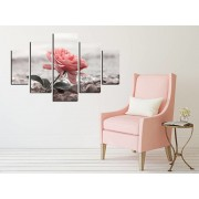Tablou decorativ multicanvas Destiny, 5 Piese, Trandafir, 247DST2937, Multicolor