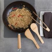 Set wok si ustensile bucatarie din bambus
