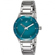 Fastrack Analog Green Dial Womens Watch-6078SM01