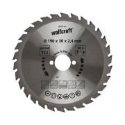 Disc fierastrau circular Wolfcraft Ø190x2,4x30 mm 30 dinti