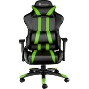 tectake Premium Gamingstol svart/grön