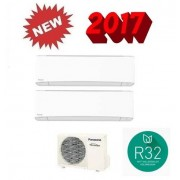 Panasonic Dual Etherea Bianco Cu-2z41tbe + Cs-Z25tkew + Cs-Z35tkew 9000+12000 Btu - Gas R-32
