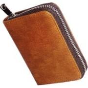 Flipkart SmartBuy Business Card Holder Luxury Leather Wallet Credit Cards ID Case/Holder for Men & Women Card Holder 15 Card Holder(Set of 1, Brown)