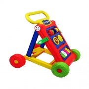 Toyshine My First Step Baby Activity Walker, Push and Pull Toy Activity Baby Walker, Red - Toddler Learning Toys for 1-1.5 Year Old
