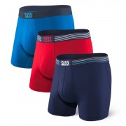 SAXX Ultra Colour férfi boxeralsó 3 db-os csomagolás színes S