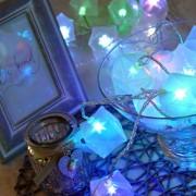 Karácsonyi ajándékdoboz 3D-s csillaggal, kül - és beltéri füzér, 30 db színes RGB/ledenként bármilyen szín!/ leddel, folyamatosan, lassan váltja a színét. Life Light Led 2 év garancia!