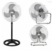 Вентилатор 3 в 1 Sapir SP 1760 M16-3, 55W, 40 см, 3 скорости, На стойка/настолен/за стена, Спици, Черен/сребрист