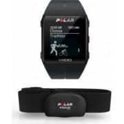 Smartband Polar V800 GPS Negru + Senzor HR Polar H7 Bonus MP3 Player Msonic miniUSB