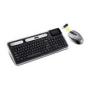 Kit de Teclado y Mouse Genius SlimStar 820 Solargizer, RF Inalámbrico, Negro/Plata