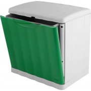 stefanplast 42554 Pattumiera Plastica 20 Litri Grigio/verde - 42554