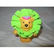 Fisher Price Little People RARE Circus Amusement Park Zoo Animals Trick Circus Stackers Stacking Lion Green Touch...