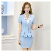Trajes Para Mujer Faldas Y Sacos Formales De Oficina Y Negocio - Azul