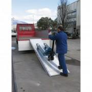 Metalmec Samostatná nájezdová rampa s vedením, 3600 x 750 mm, 1000 kg