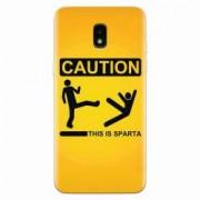 Husa silicon pentru Samsung Galaxy J3 2018 This Is Sparta Funny Illustration