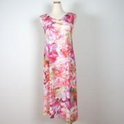 Cotonel Lång klänning i cerise toner (Stl: XXL, )