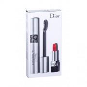 Christian Dior Diorshow Iconic Overcurl подаръчен комплект спирала 10 ml + червило Mini Rouge 999 1,5 g за жени 090 Over Black