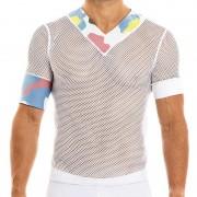 Modus Vivendi Camouflage V Neck Short Sleeved T Shirt White 02041