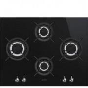 Smeg 65cm Classic Ultra-low Profile Gas-On-Glass Hob PV364LCN