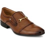 El Paso Men's Stylish Tan Synthetic Leather Stylish Formal Slip On Shoes
