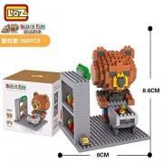 Generic LOZ Figures Brown Bear WC Pee Urinate Box Diamond Block Toys Builds Cartoon Fun Small Bricks Cube DIY Animal Anime Figurine 9430 9432
