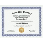 Scout Scouting Degree: Custom Gag Diploma Doctorate Certificate (Funny Customized Joke Gift Novelty Item)