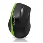 мишка CANYON CNR-MSO01N (Cable, Optical 800dpi,3 btn,USB), Black/Green - CNR-MSO01NG