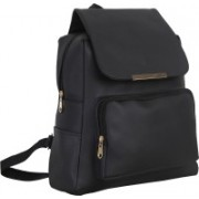 JMO27Deals FB-05 High Quality Leatherette 15 L Backpack(Black)