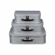Geen Retro koffertje zilver 35 cm