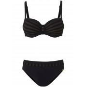 Sunflair Dames Bikini Xtra Life met glinsterstrepen Van Sunflair zwart