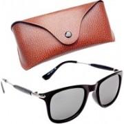 Royce Wayfarer, Retro Square, Rectangular Sunglasses(Silver)