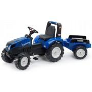 LICHIDARE DE STOC - FALK Tractor cu pedale New Holland T8 cu remorcă 3090B