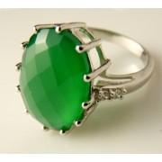 Inel argint onix verde -VR018130 (MASURI IN STOC ⤵: 52 mm circumferinta sau 16,6 mm diametru interior, Categorie: inele)