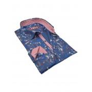 Spazio Hanh Long Sleeved Shirt Navy 47-S-3175