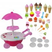 EH Girl Candy Cart Ice Cream Shop Supermercado Trolley Niños Juguetes Con Luz Música