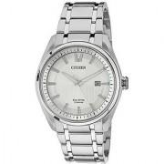 Citizen Silver Metal Round Dial Quartz Watch For Men (AW1241-54A)