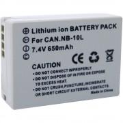 Baterija za kameru Conrad energy 7.4 V 650 mAh zamjenjuje originalnu bateriju NB-10L