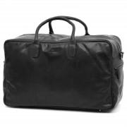 Lucleon Montreal Schwarze Leder Duffle Bag Reisetasche