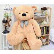 Camel Brown 3.5 Feet Bow Teddy Bear
