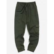 Zaful Pantalon de jogging à blocs de couleurs Vert Armée XL