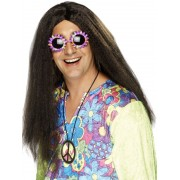 1960'S Hippy Brown Wig
